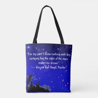 Canvas tas met citaat van Vincent van Gogh