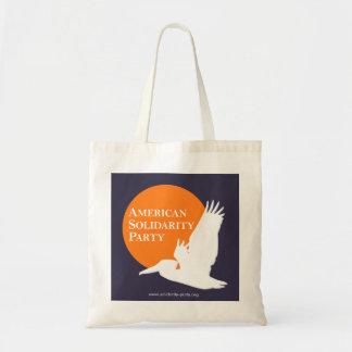 Canvas tas met het Oranje & Witte Logo van het