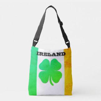 Canvas tas met Ierse Vlag en Klaver
