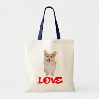 Canvas tas van de Hond van het Puppy Corgi van