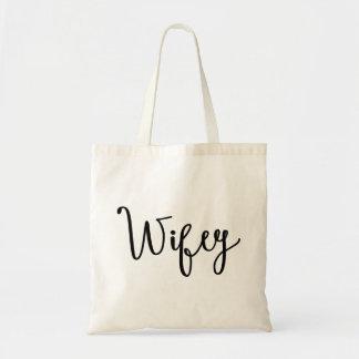 Canvas tas van de Kalligrafie van Wifey het
