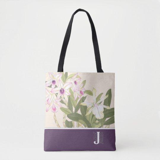 Canvas tas van de Orchidee van de Druk van de
