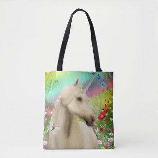 Canvas tas van de Regenboog van de eenhoorn het