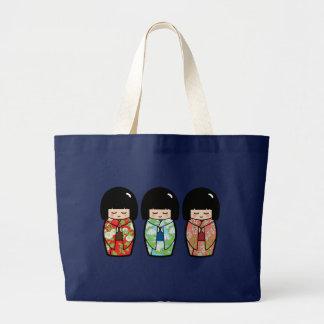 Canvas tas van Doll van Doll van Kokeshi van