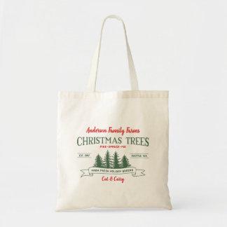 Canvas tas van het Boerderij van de Kerstboom van