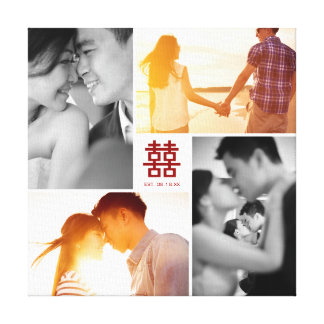 Canvas van de Collage van de Foto van het Geluk
