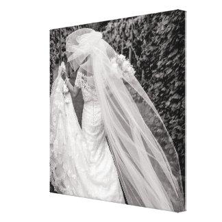 Canvas van de Foto van het Boeket van het Huwelijk