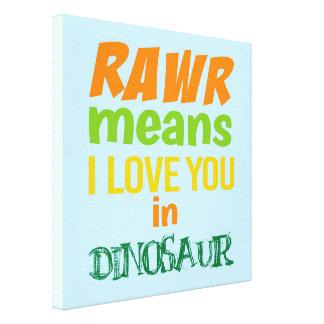 Canvas van de Kunst van de Muur van de dinosaurus
