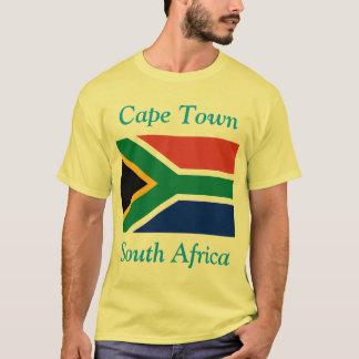 Cape Town, Zuid-Afrika met Zuidafrikaanse Vlag T Shirt
