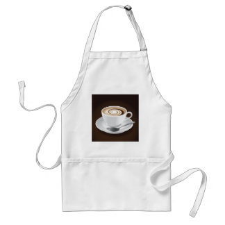 Cappuccino's met Werveling Standaard Schort