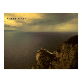 Capri - de Vuurtoren van Punta Carena Briefkaart