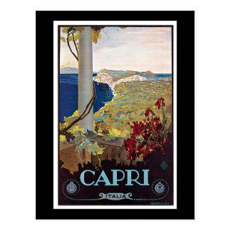 Capri, Poster van de Reis van Italië het Vintage Briefkaart