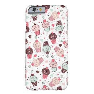Capricieus Patroon Cupcakes Barely There iPhone 6 Hoesje