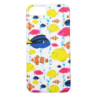 Capricieuze en Kleurrijke Tropische Vissen en iPhone 8/7 Hoesje