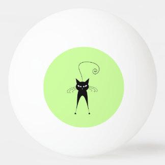 Capricieuze Grappige trendy zwarte kat Pingpongbal