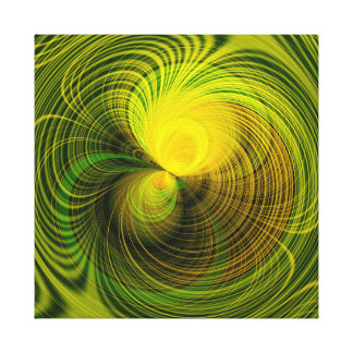 Capricieuze Groen Stretched Canvas Print