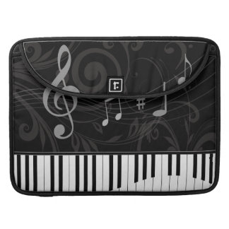 Capricieuze Piano en Muzieknoten MacBook Pro Sleeve