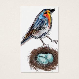 Capricieuze Robin met Nest & het Visitekaartje van Visitekaartjes