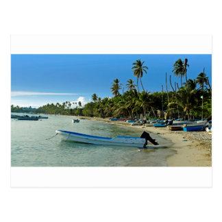 Caraïbisch strand briefkaart