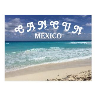 Caraïbische Strand van het Water van Mexico van Briefkaart