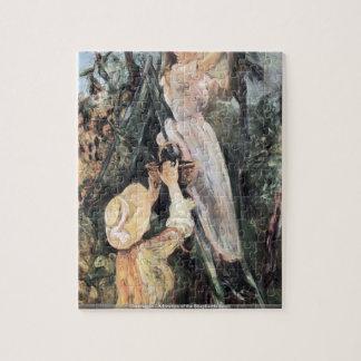 Caravaggio - Bewondering van het detail van Herder Puzzel