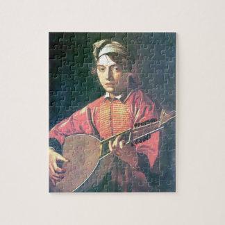 Caravaggio- de luitspeler puzzel
