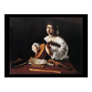 Caravaggio de Speler van de Luit Briefkaart