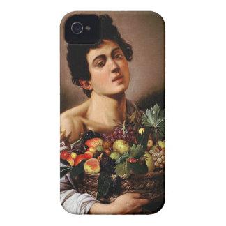 Caravaggio - Jongen met een Mand het Kunstwerk van iPhone 4 Hoesje