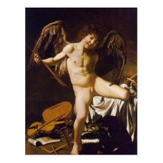Caravaggio- Zegevierend Amor Briefkaart