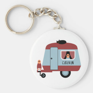 Caravan Basic Ronde Button Sleutelhanger