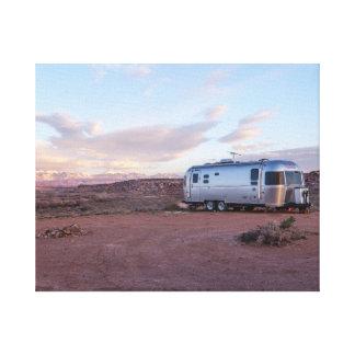 Caravan in de woestijn canvas print
