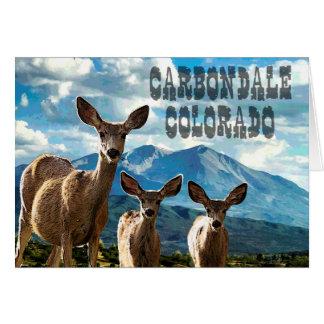 Carbondale, de Kaart van de Nota van Colorado