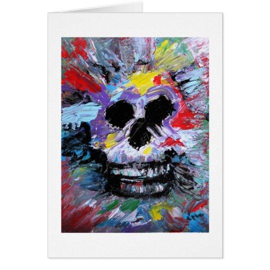 Card 17 Dennis Epke Skull wenskaart