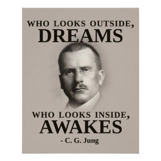 Carl Jung Inspirational Quote Poster