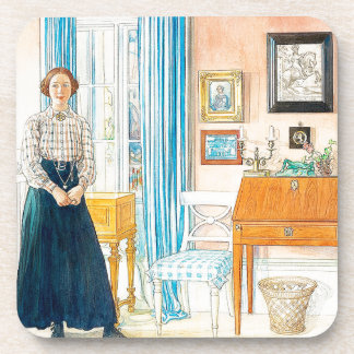Carl Larsson Dame Family Home Coaster Onderzetter