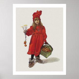 Carl Larsson Weinig Zweeds Meisje Brita als Iduna Poster