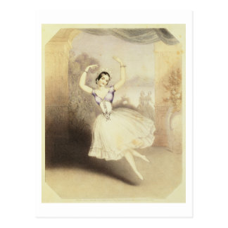Carlotta Grisi (1819-99) in het Ballet van Peri Briefkaart