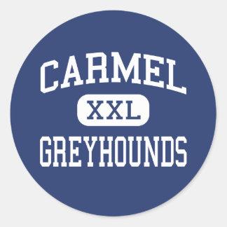 Carmel - Windhonden - Middelbare school - Carmel Ronde Stickers
