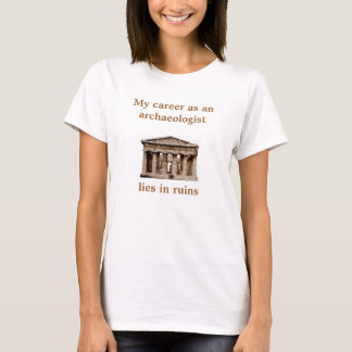 Carrière zoals op archeoloog t shirt