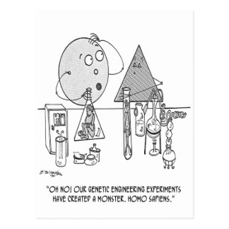 Cartoon 0313 van de genetica briefkaart