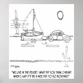 Cartoon 0430 van het roeien poster
