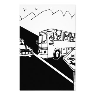 Cartoon 3251 van de bus briefpapier