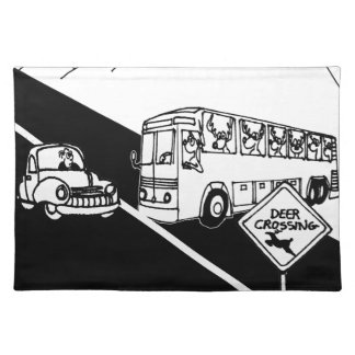 Cartoon 3251 van de bus placemat