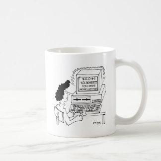Cartoon 4369 van de computer koffiemok