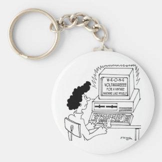 Cartoon 4369 van de computer sleutelhanger
