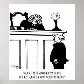 Cartoon 5298 van de advocaat poster