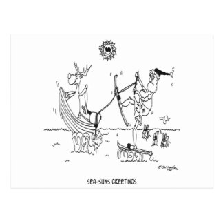 Cartoon 6193 van de kerstman briefkaart