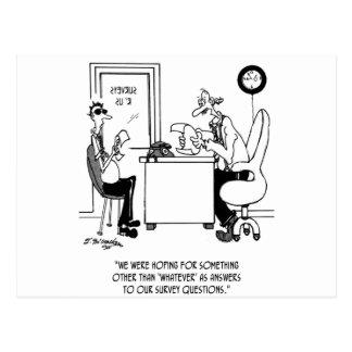 Cartoon 7990 van het onderzoek briefkaart