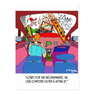 Cartoon 8849 van het parkeren briefkaart