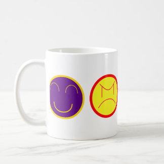 cartoon gezichten koffiemok